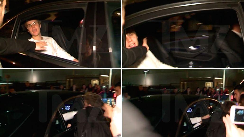 Justin Bieber le pegó a un fan.
