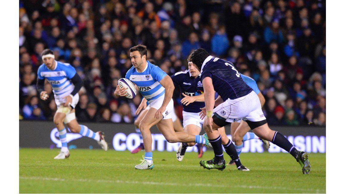 Los Pumas enfrentaron a Escocia en Edimburgo