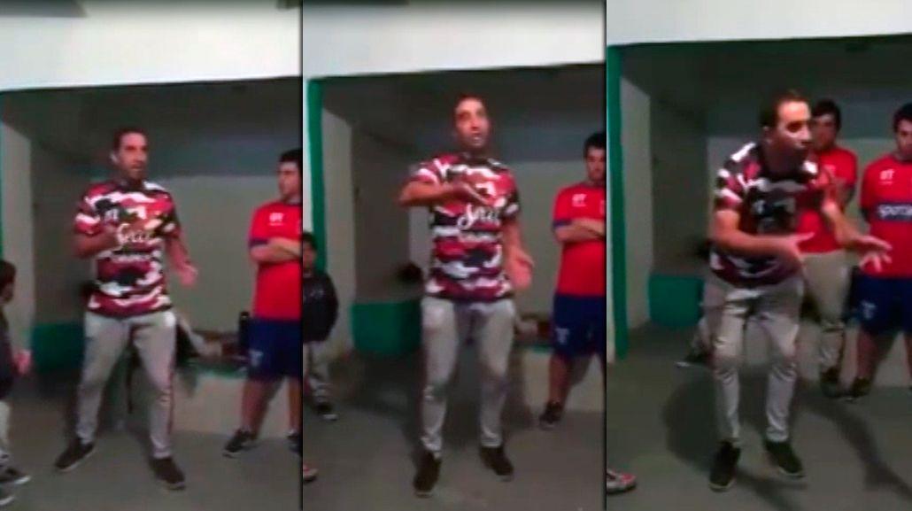 Un DT arengó a sus jugadores del club Avellaneda.