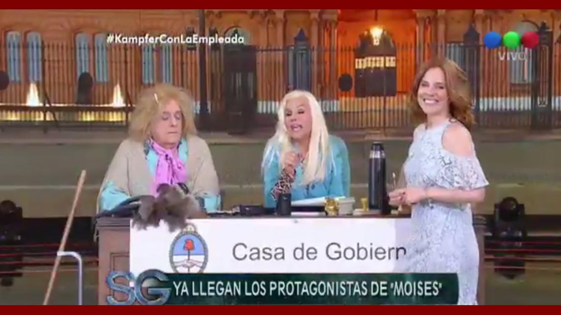 Susana Giménez con Agustina Kämpfer y la empleada que encarna Antonio Gasalla