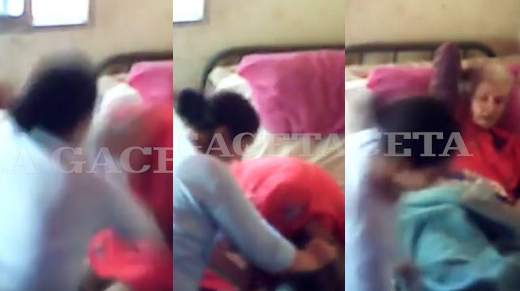 Una mujer era maltratada por su cuidadora en Tucumán.