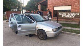 El auto donde se produjo el accidente