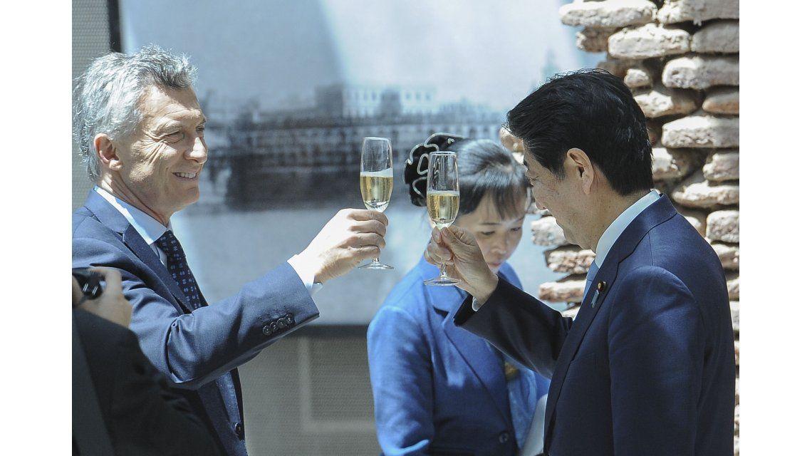 Mauricio Macri recibió a Shinzo Abe