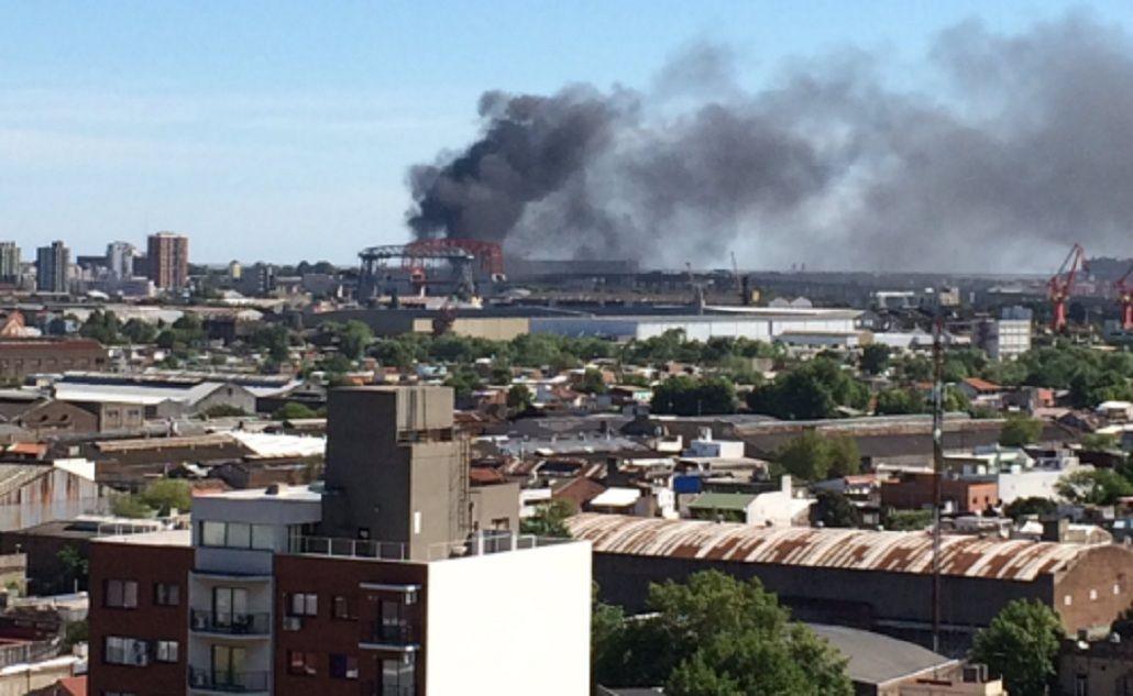 Incendio en La Boca