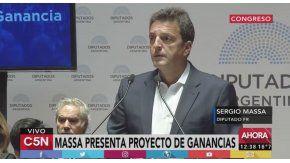 Sergio Massa presentó el proyecto para modificar Ganancias