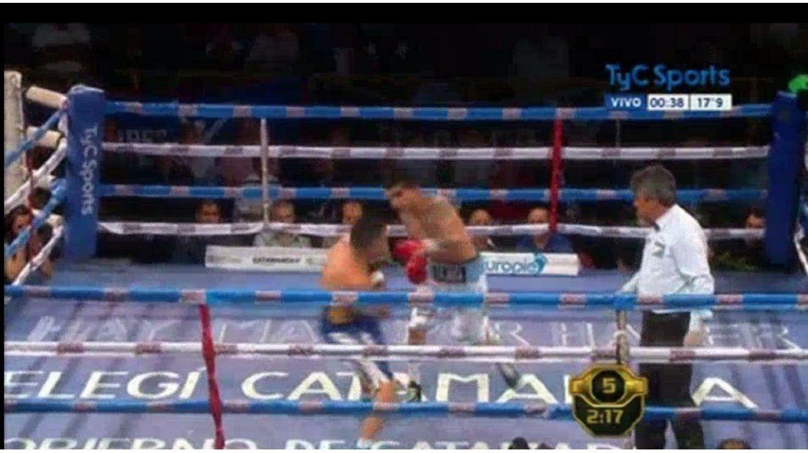 Barrionuevo noqueó a Vallejos en el quinto round