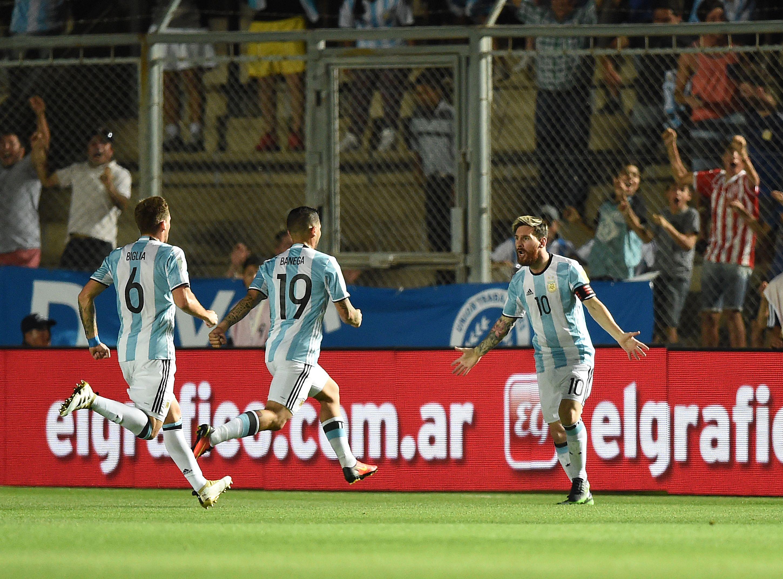 La Selección festeja con Messi