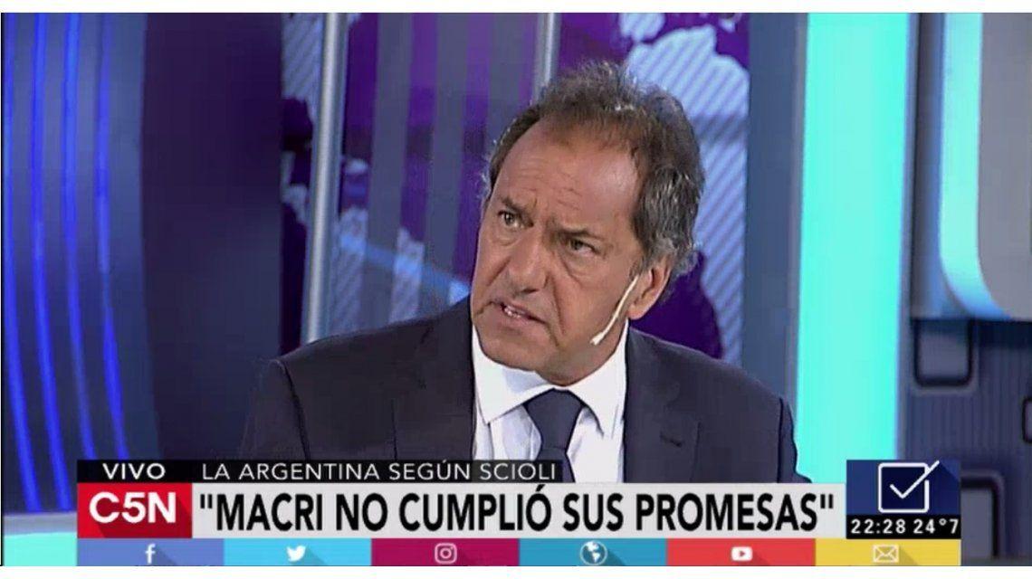 Daniel Scioli en C5N a un año del debate presidencial