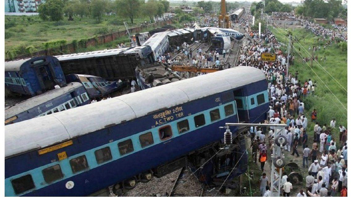 Un tren descarriló en India
