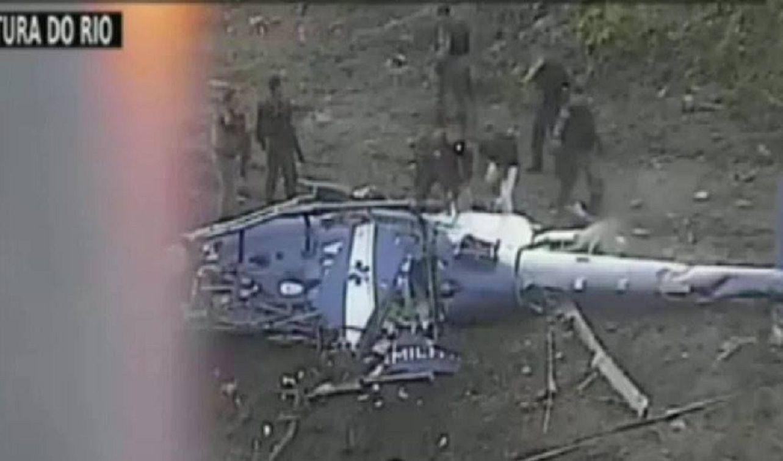 El hélicoptero que cayó en Río de Janeiro