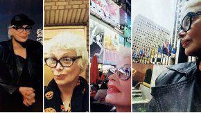 La vedette viajó a Nueva York donde se encontró con un amigo
