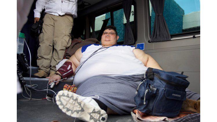 El hombre más gordo del mundo empezó su tratamiento.