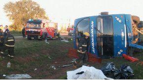 El accidente ocurrió en el ingreso de Río Cuarto