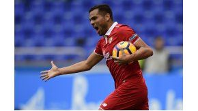El gol de Gabriel Mercado le dio la victoria agónica al Sevilla de Sampaoli