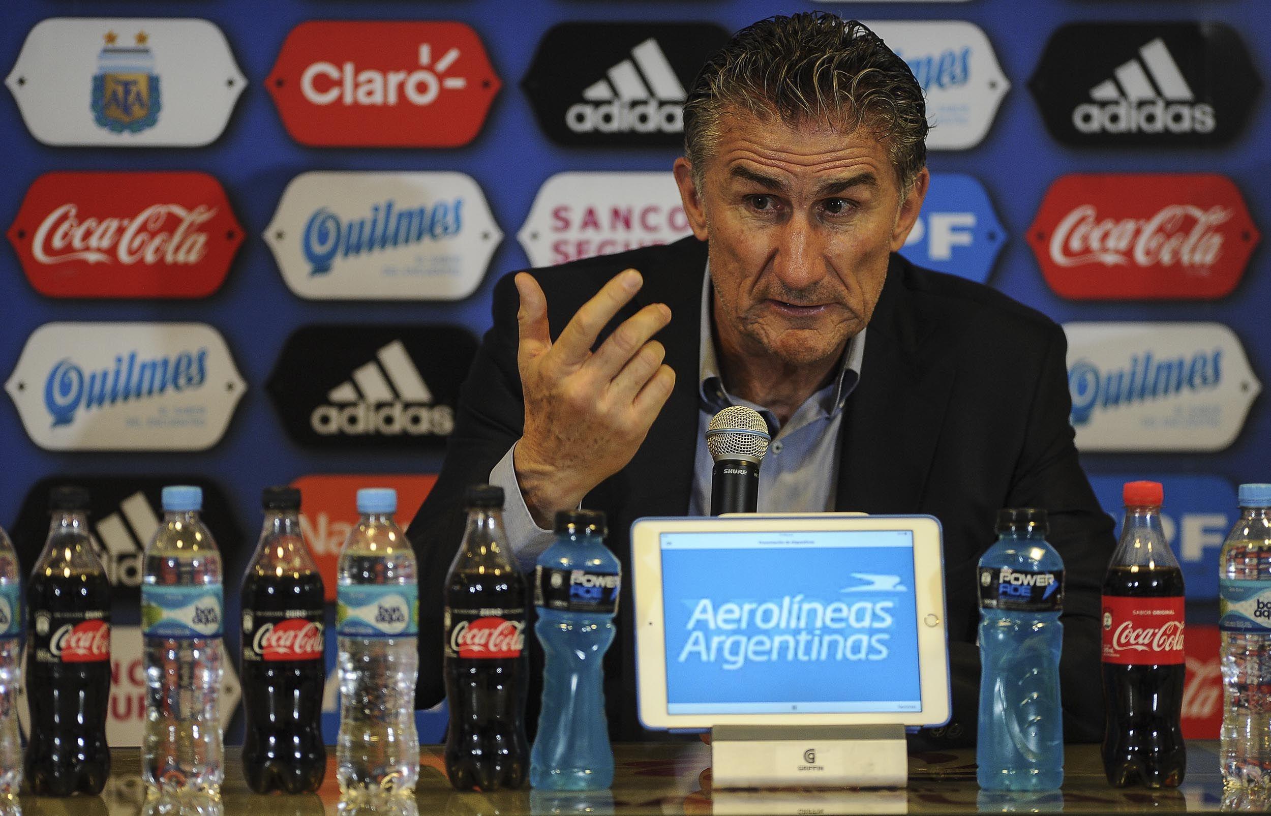 Edgardo Bauza tras la goleada de Argentina a Colombia