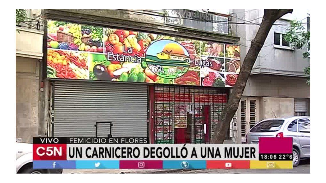El brutal crimen en la carnicería de Flores ocurrió delante de un nene de 6 años.