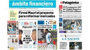 Tapas de los diarios del 16 de noviembre de 2016