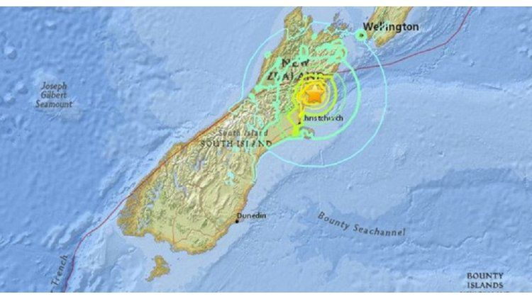 Terremoto azotó a Nueva Zeland