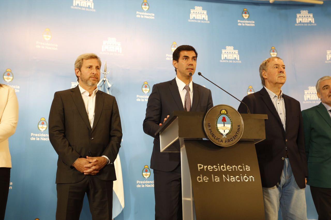 Conferencia de prensa del gobernador Juan Manuel Urtubey