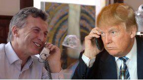 Macri volverá a hablar por teléfono con Trump