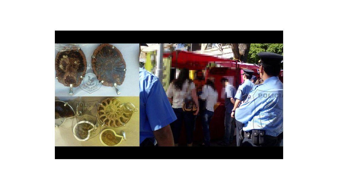 Encontraron restos fósiles en una Feria de Artesanos.