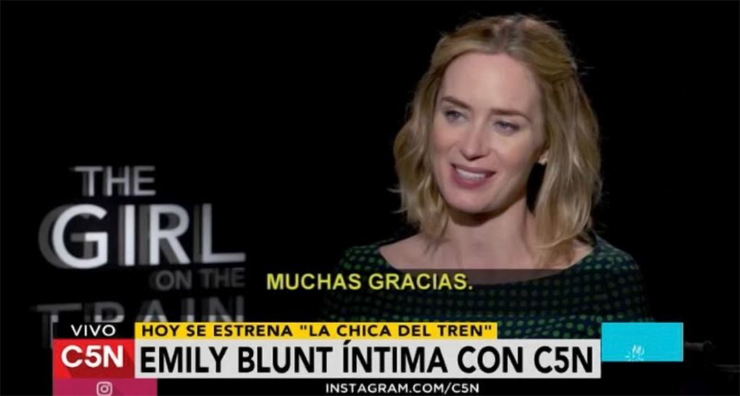 Emily Blunt habló con C5N sobre La chica del tren