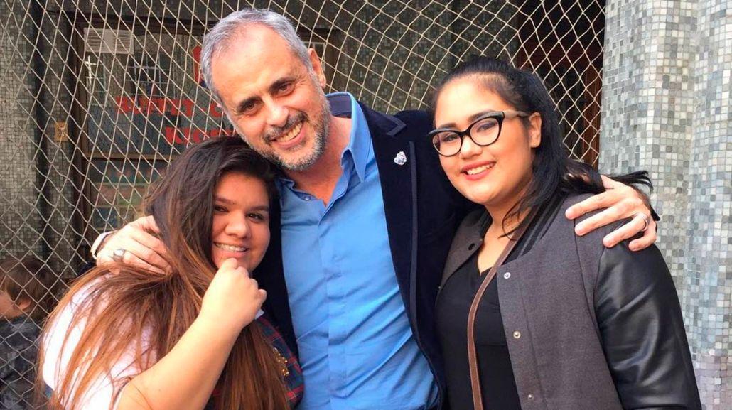 Jorge Rial y sus hijas Morena y Rocío