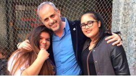 Jorge Rial y sus hijas Morena y Rocío, agredidas.