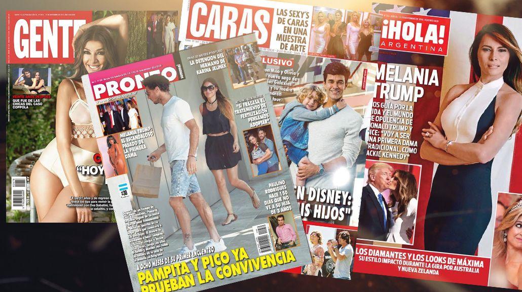 Mirá las tapas de las revistas