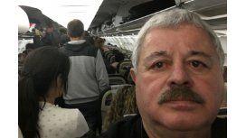 El periodista también tuvo problemas con su vuelo