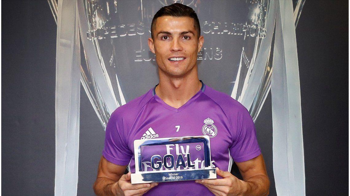 Ronaldo ganó el premio Goal al mejor jugador
