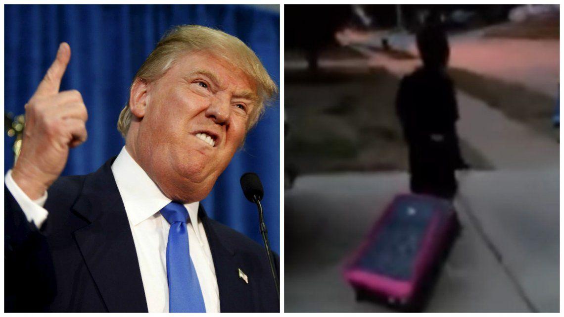 Donald Trump y el niño al que obligaron a irse de su hogar