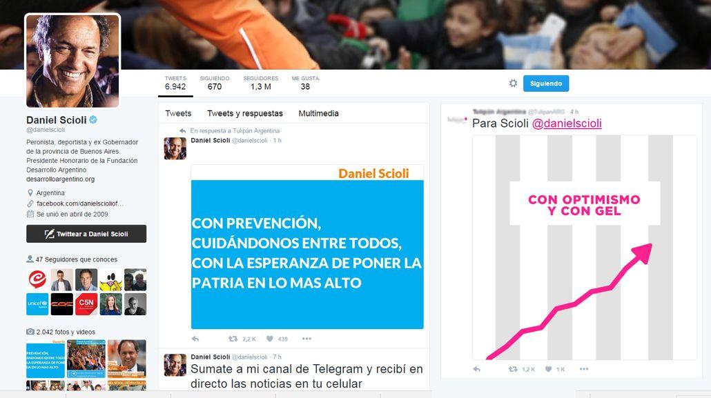 Desopilante diálogo twittero entre Scioli y una marca de preservativos