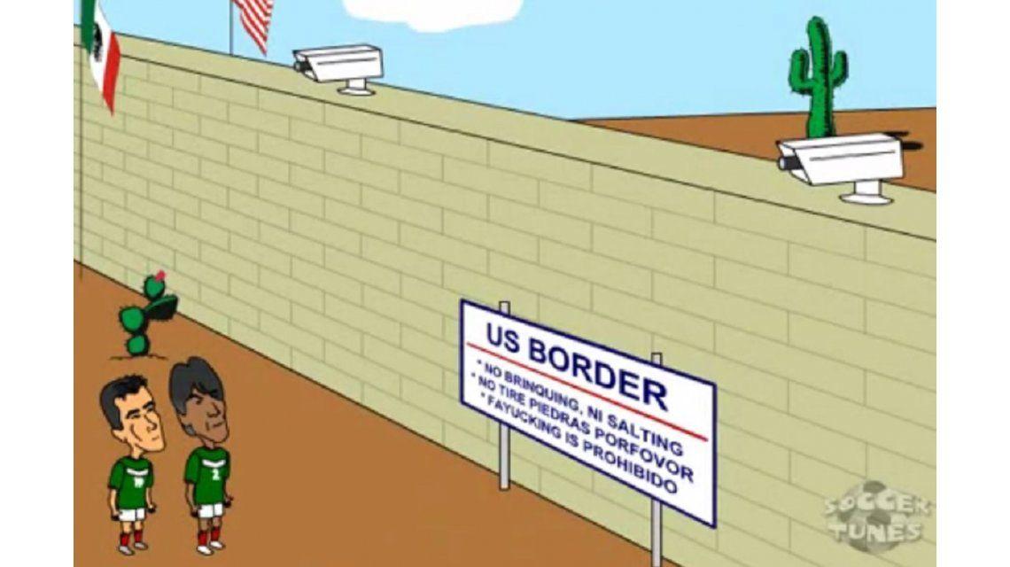 La propuesta de Donald Trump de construir un muro fronterizo entre México y su país ya se  podía ver en video difundido hace 10 años.