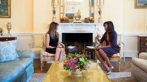 Melania Trump y Michelle Obama en la Casa Blanca