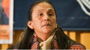 Estoy presa por construir viviendas, dijo desde la cárcel la líder de la Tupac Amaru.