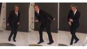 Ricardo Darín, divertido durante una sesión de fotos.