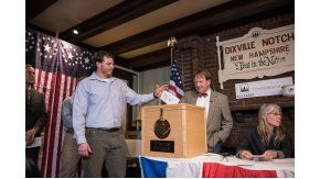 La candidata demócrata ganó en Dixville Notch