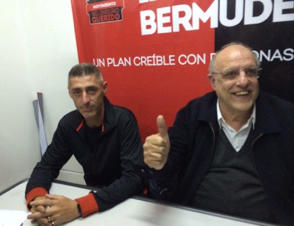 Cristian Damico (izquierda) con Eduardo Bermúdez