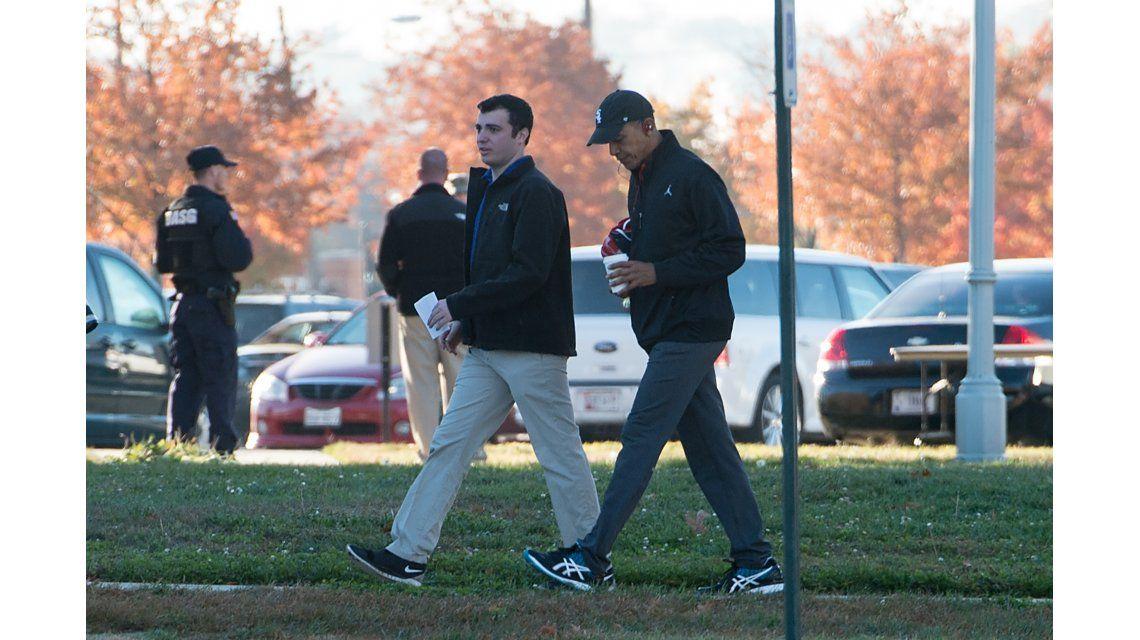 El presidente Obama en la base militar