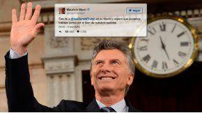 Mauricio Macri felicitó a Donald Trump