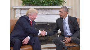 Donald Trump y Barack Obama se reunieron en el Salón Oval de la Casa Blanca.