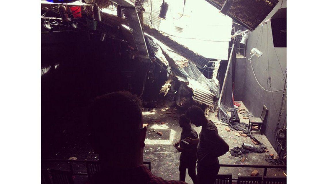 Una construcción que se derrumbó provocó grandes daños en el Método  Kairós