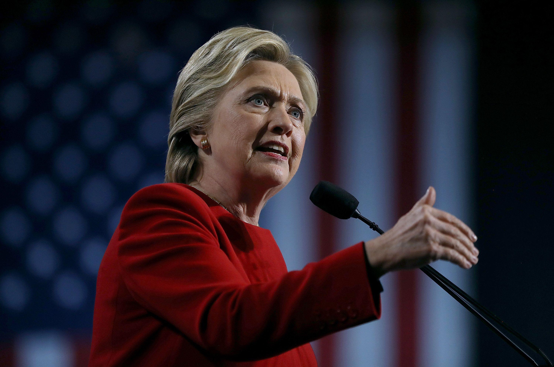 Hillary Clinton en el cierre de su campaña en la carrera por la presidencia de los Estados Unidos