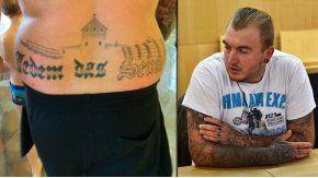 Marcel Zech fue condenado a ocho meses de cárcel por llevar un tatuaje nazi.