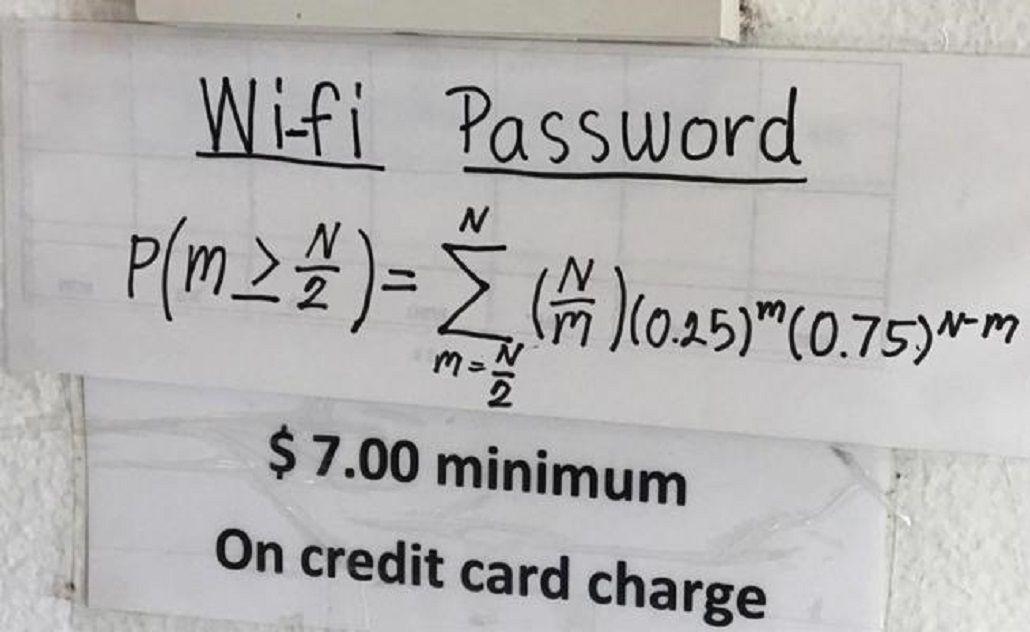Un restaurante sólo da la clave de Wi-Fi si los clientes resuelven una ecuación.