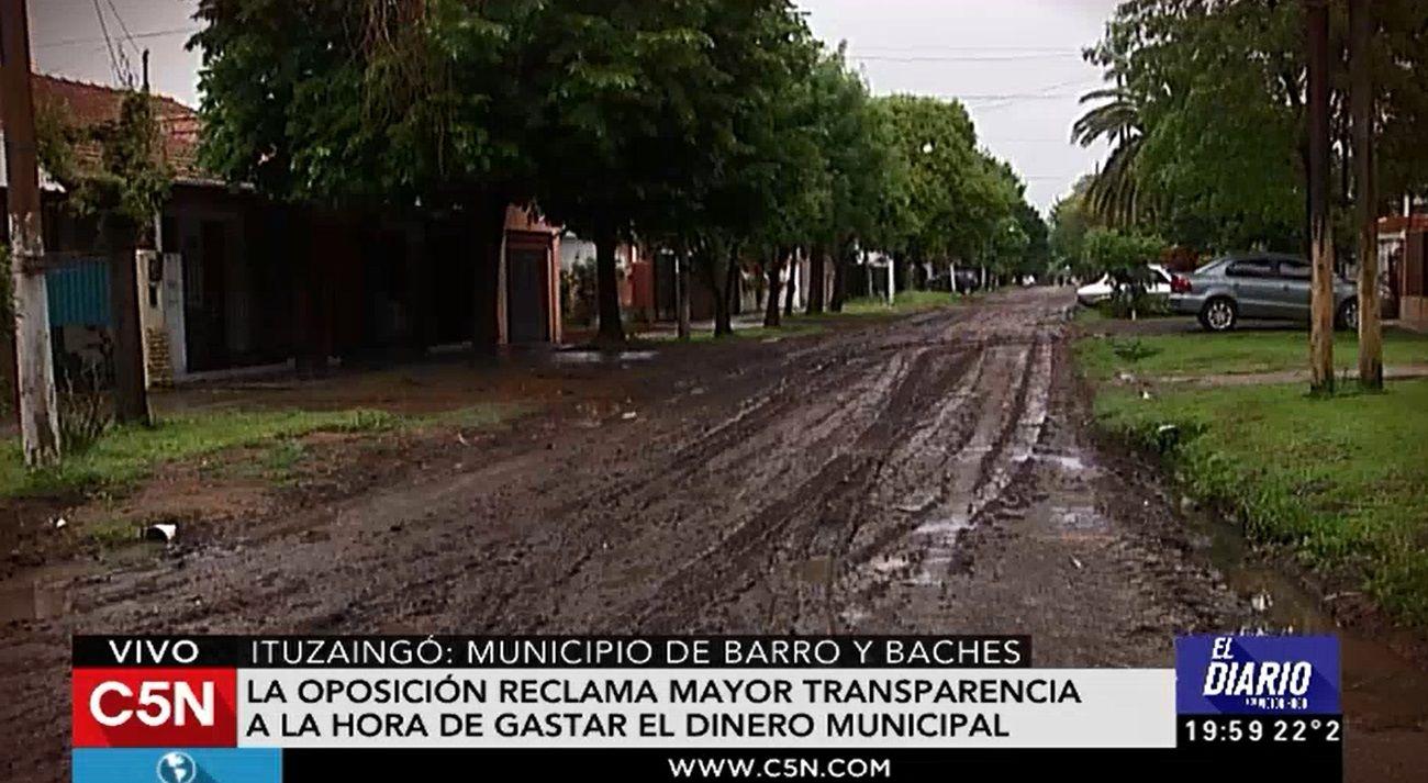 La millonaria partida presupuestaria destinada para el mantenimiento de las calles en Ituzaingó no se ajusta a la realidad.