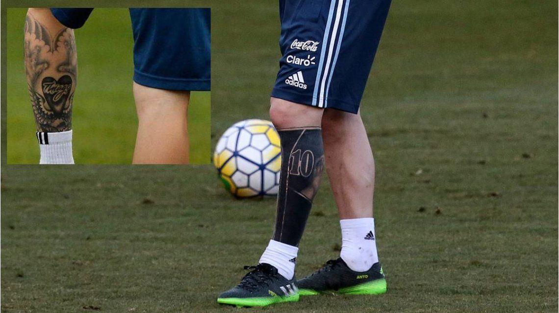 El cambio en el tatuaje en la pierna izquierda de Lionel Messi