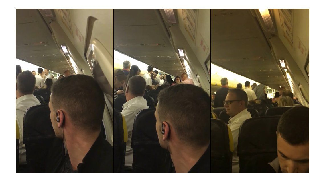Escándalo en el aire: pasajeros se agarraron a las piñas en pleno vuelo