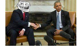 Los memes inundaron las redes tras la reunión entre Trump y Obama
